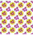Abstract geometric colorful seamless pattern on vector image vector image