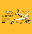 airplane in airport halftone vector image