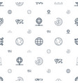 america icons pattern seamless white background vector image vector image