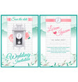around the clock wedding card invitation vector image vector image