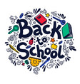 back to school circle composition vector image