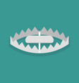 bear trap in flat style vector image vector image