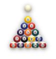 Billiard balls on table Eps 10 vector image vector image