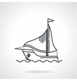 Black line icon for sailing yacht vector image vector image