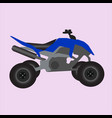 blue off road quad vector image