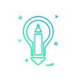 bulb icon design vector image vector image