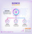 business presentation infographic template with 3 vector image