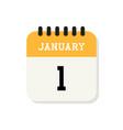 calendar 1st january flat icon on white