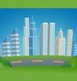 cartoon cityscape metropolis vector image vector image