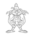 Cartoon cock bodybuilder vector image