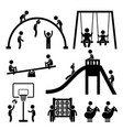 children playground outdoor park a set of vector image