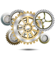 Chrome gears vector image vector image