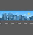 city skyline with street vector image