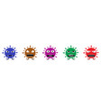 colored coronavirus monster set vector image vector image
