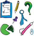 colorful drawn picture with folder vector image vector image