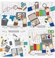 Concepts for business analysis and planning vector image vector image