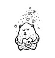 cute bear cartoon sketch vector image