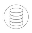 database icon design vector image vector image