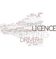 driving licence word cloud concept vector image vector image