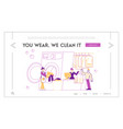 dry cleaning service landing page template female vector image vector image