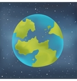 Earth planet on a starry sky background vector image