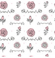 elegance seamless pattern with flowers vector image vector image