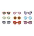 fashion sunglasses accessory sun glasses vector image vector image