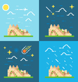 Flat design 4 styles of Machu Picchu Peru vector image vector image