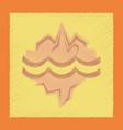 flat shading style icon melting glacier vector image vector image