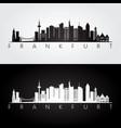frankfurt skyline and landmarks silhouette vector image vector image