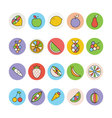 Fruits and Vegetables Icons 1 vector image