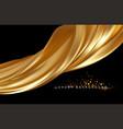 gold metallic silk flowing wave luxury trendy vector image vector image