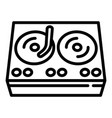 hiphop swag player icon outline style vector image vector image