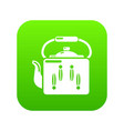 kettle retro icon green vector image vector image