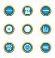 location transfer icons set flat style vector image vector image