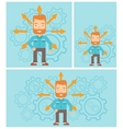 Man choosing career way vector image vector image