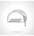 Mexican taco flat thin line icon vector image vector image