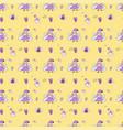 new year 2021 pattern christmas magic seamless vector image vector image