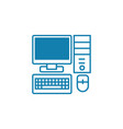 pc components linear icon concept pc components vector image