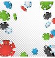 poker jackpot winner background falling vector image vector image