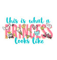princess party lettering with girly doodles vector image