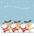 Santa and Reindeer Christmas vector image vector image