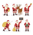 santa claus set character design vector image vector image