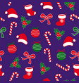 seamless christmas pattern with lolipop candy vector image vector image