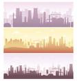 set industrial backgrounds vector image