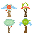 set of trees with labels vector image vector image