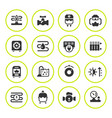 set round icons of heating vector image vector image