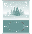 Snowy Christmas Greeting Card Design vector image