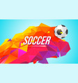soccer banner for tournaments championships game vector image vector image
