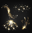 sparkler flying fireworks sparkles set vector image